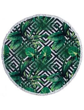 ILOVETEXTILE - Toalha redonda Tropical