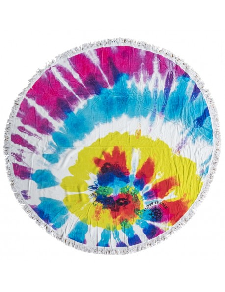 ILOVETEXTILE - Rainbow round Towel