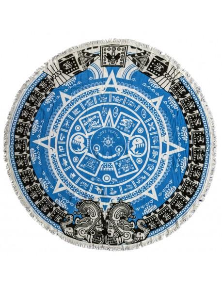 ILOVETEXTILE - Toalha redonda Ollin Blue