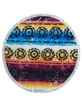 ILOVETEXTILE - Toalha redonda chimalli